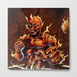 Cluster Fight Metal Print