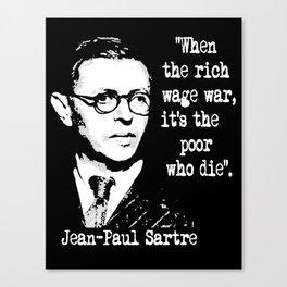 J P Sartre Canvas Print