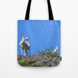 Ewe and Lamb Tote Bag