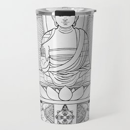 Buddha Black & White Travel Mug