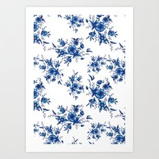 FOLK FLOWERS Art Print