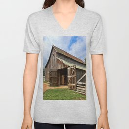 Who Left The Barn Door Open? Unisex V-Neck