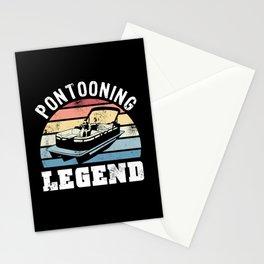 Pontooning Legend Gift for Boating Fan Stationery Cards