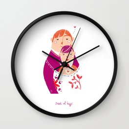 Scent of Hugs Wall Clock