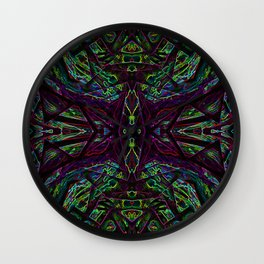 Lucid Dreams - Purple/Green Wall Clock
