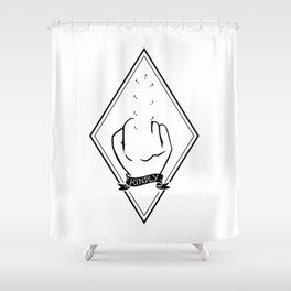 kindly FCK OFF Shower Curtain