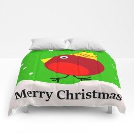Merry Christmas Robin Comforters