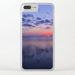 Dead Calm Sunset on the Sound Clear iPhone Case
