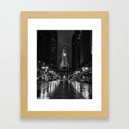City of Brotherly Love [B+W] Framed Art Print