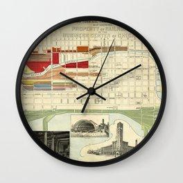 Chicago Railroad Map 1898 Wall Clock