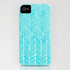 Freeform Arrows in turquoise iPhone (4, 4s) Slim Case