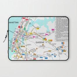 New York City Metro Subway Map Laptop Sleeve