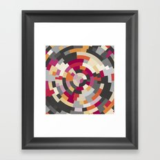 Concentric Rings Grey Framed Art Print