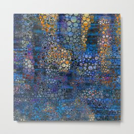 Iridescent Abstract Snakeskin Texture Metal Print