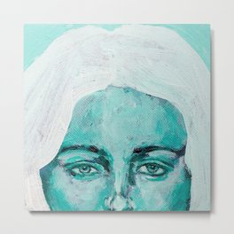 Mint Girl Metal Print