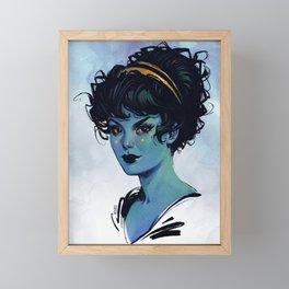 Blue Witch Framed Mini Art Print