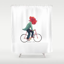 Mr. Rose Pedals Pun Shower Curtain
