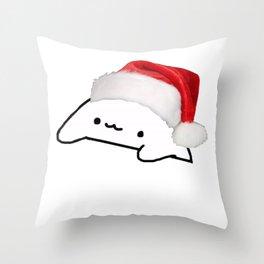 Bongo Cat Christmas Meme Throw Pillow