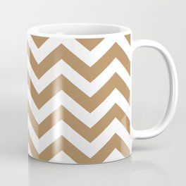 Chevron Zig Zag Pattern: Ginger Coffee Mug