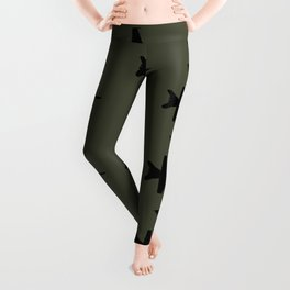 F-18 Hornet Fighter Jet Pattern Leggings