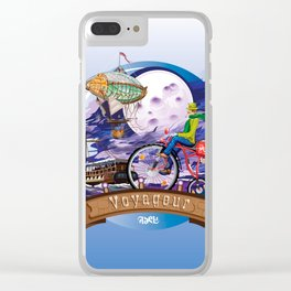Around The World Colorful Poster Illustration Clear iPhone Case