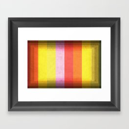 Warm Color Stripes Framed Art Print