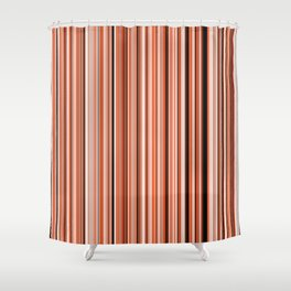Old Skool Stripes - Sunset Shower Curtain