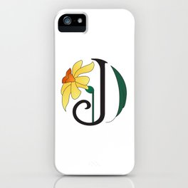 Ruby's Flower Initials - J iPhone Case