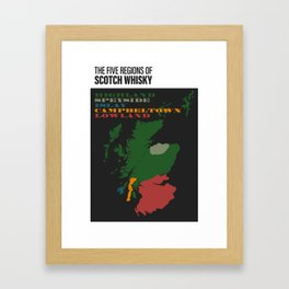 The Five Regions of Scotch Whisky Framed Art Print