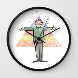 Amazin' Abe Maslow and His Hierarchy of Needs Wall Clock