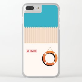 No Diving Clear iPhone Case