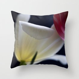 White tulip in light II Throw Pillow