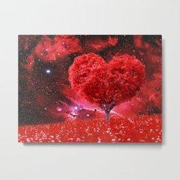 Cosmic love tree Metal Print