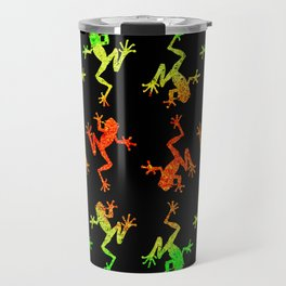 Rainforest frog pattern reverse Travel Mug