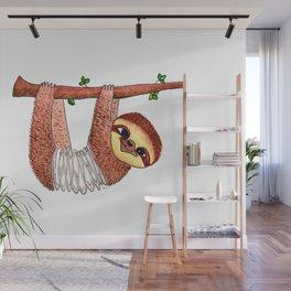 Slinky Sloth Wall Mural