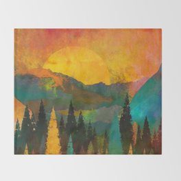 The Sunset Throw Blanket