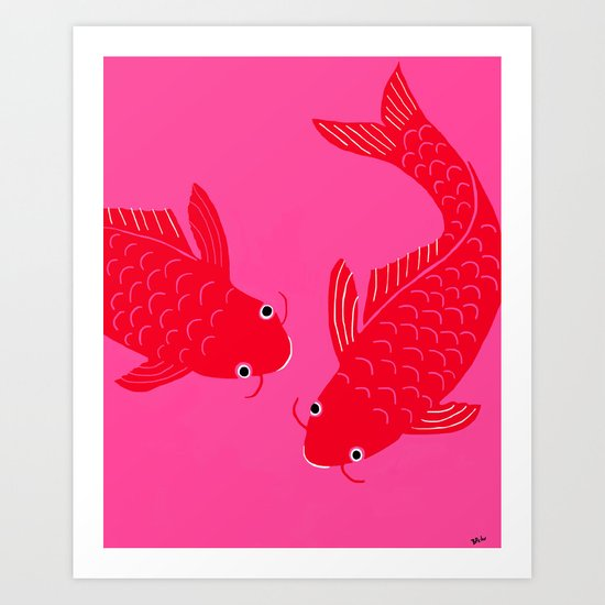 Happy Fish Art Print