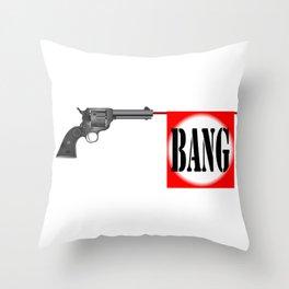 Wild West Bang Throw Pillow