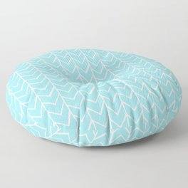 Herringbone Island Paradise Floor Pillow