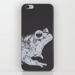 Charcoal Drawing of a Toad or Frog iPhone Skin