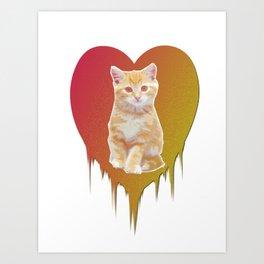 Cat in your heart Art Print