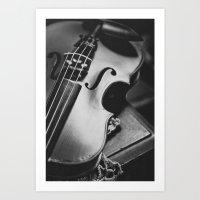violin Art Prints featuring Violin by Jo Bekah Photography