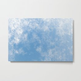 Blue abstract of condensation water flowing down Metal Print