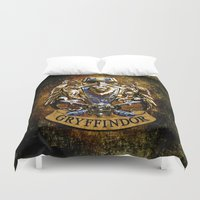 gryffindor Duvet Covers featuring Gryffindor and ravenclaw United team iPhone 4 4s 5 5c, ipod, ipad, pillow case, tshirt and mugs by Three Second