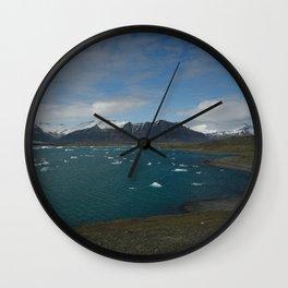 glacial lagoon II Wall Clock