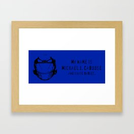 My Name Is... - Red vs. Blue Caboose Framed Art Print
