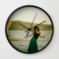 portugal Wall Clocks featuring Dance Portugal by Sébastien BOUVIER