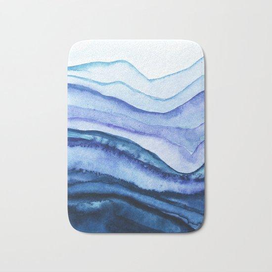 Washed Away Watercolor Bath Mat