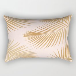 Tropical Escape / Golden Palm Fronds Rectangular Pillow