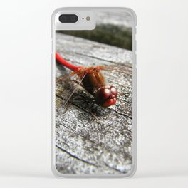 Red Dragonfly Clear iPhone Case